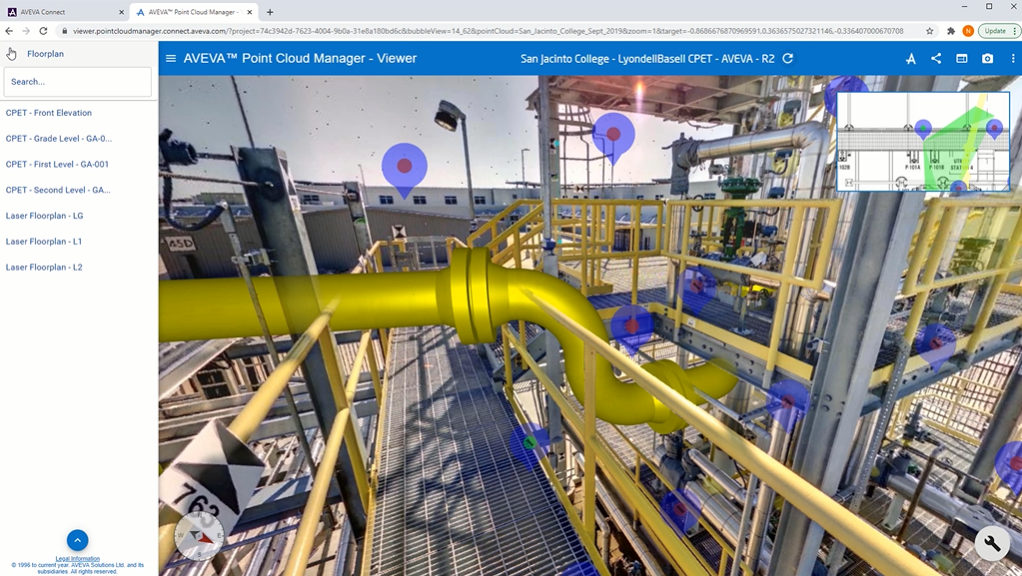 AVEVA Point Cloud Manager Interface
