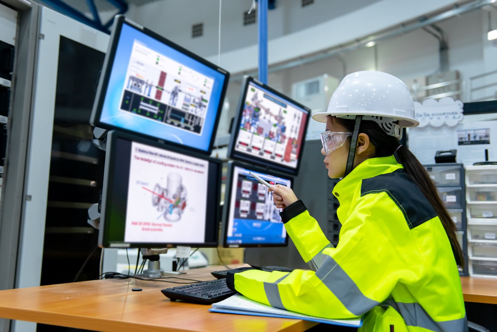 Woman using Unified Operations Center