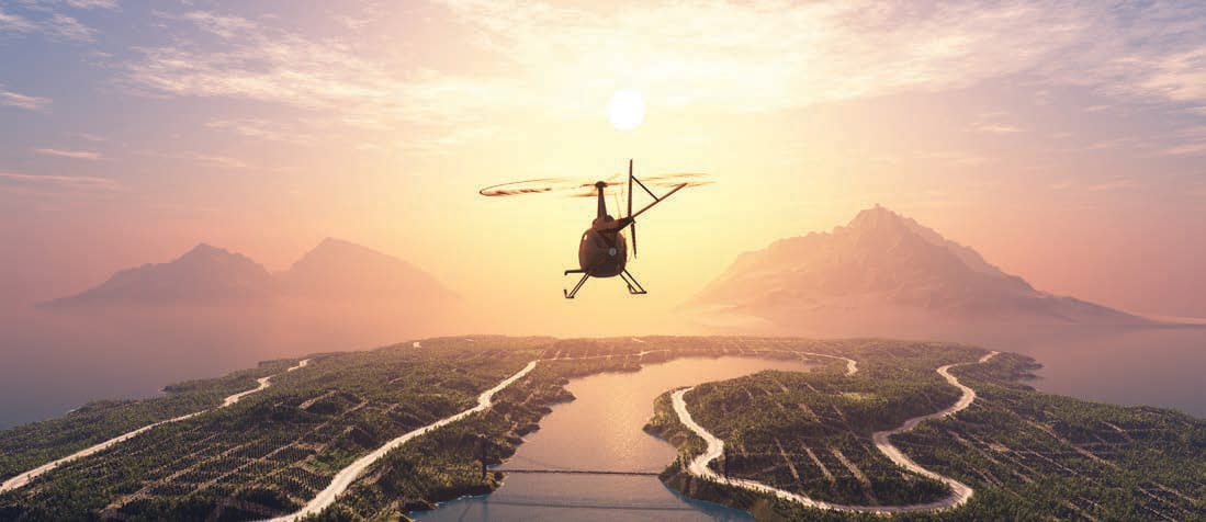 Airbus Helicopter Sunset