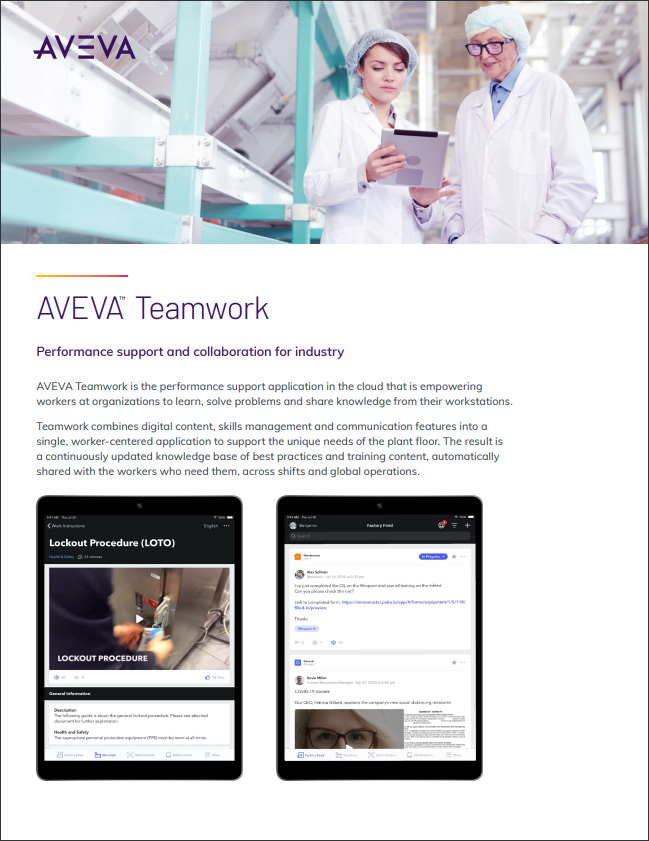 AVEVA Teamwork Brochure