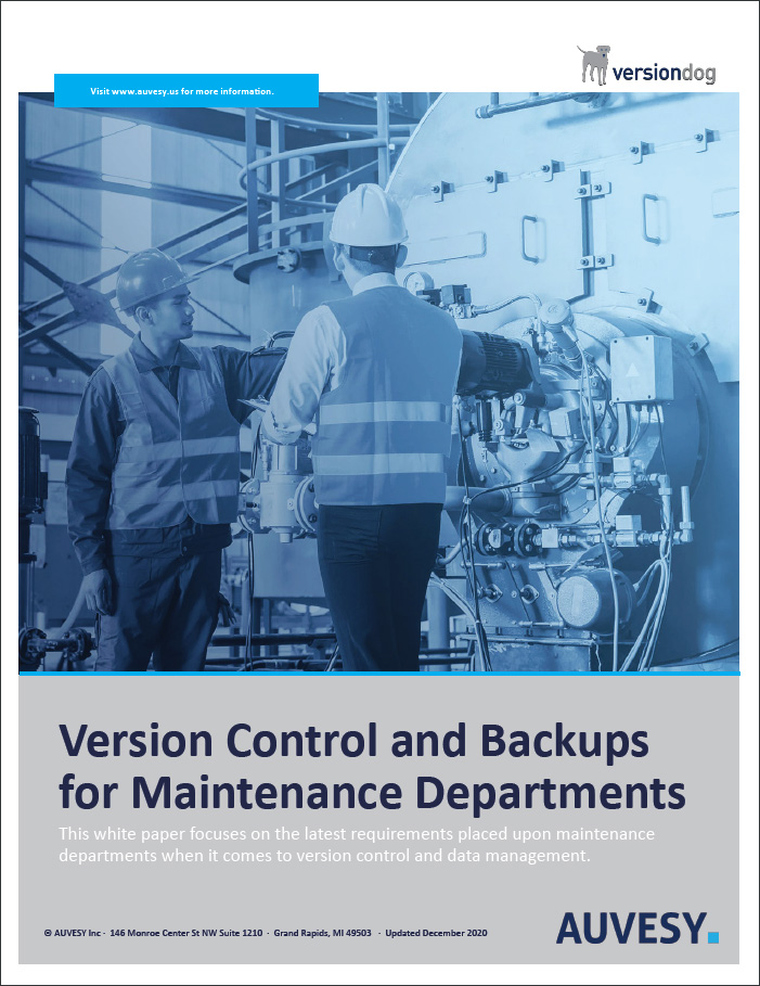 version control and backups for maintenance departments