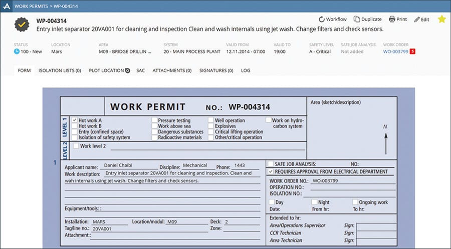 Control of Work Permit