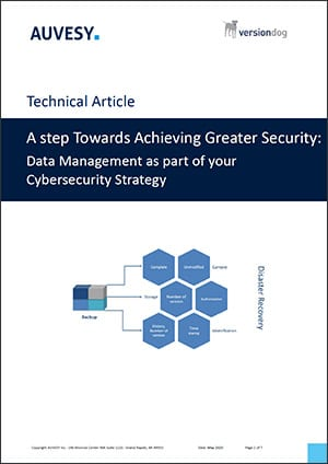 Data Management as Cybersecurity Strategy Article