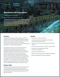 MES Operations Datasheet