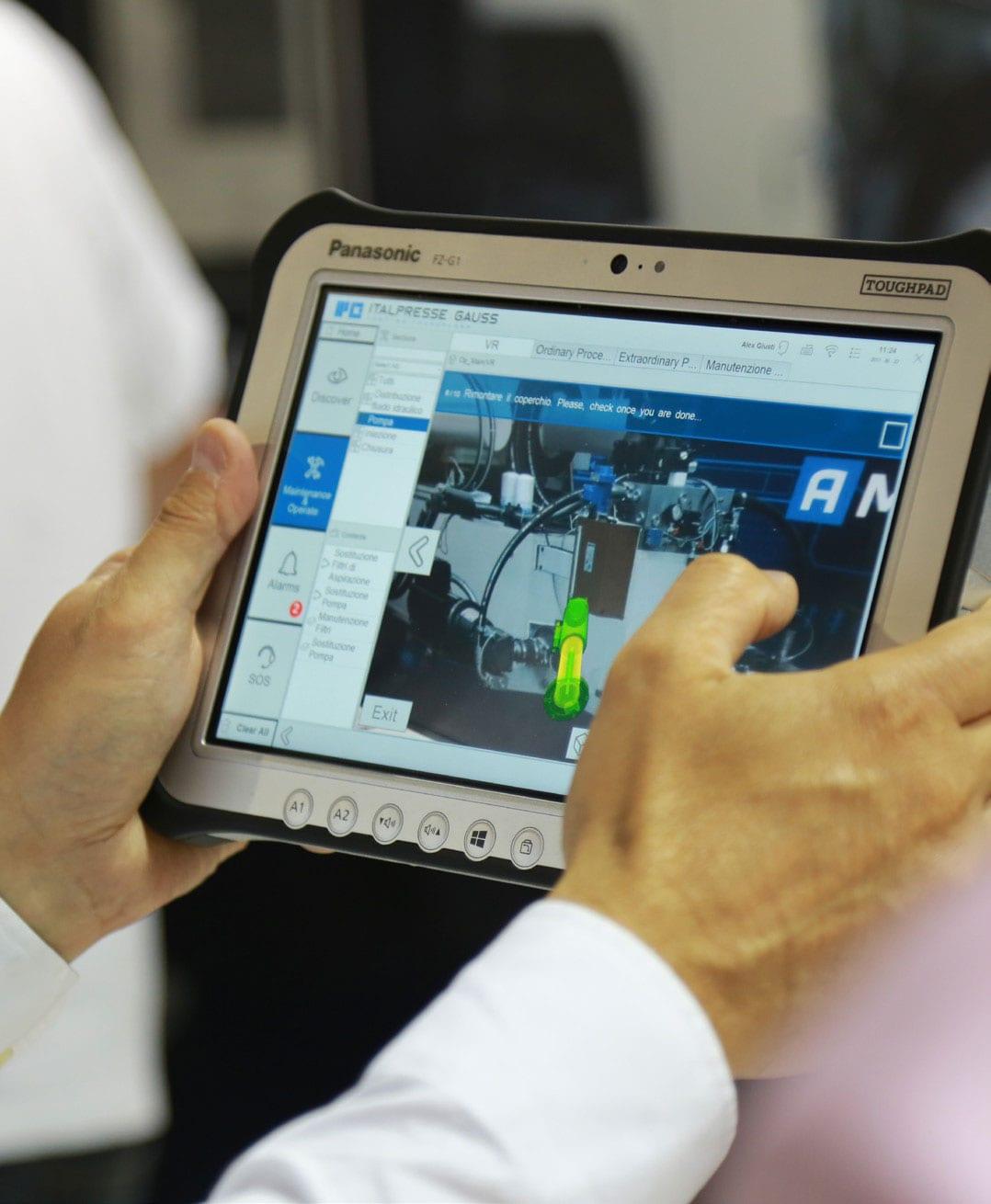 Italpresse Gauss Customer Story Tablet