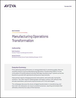 Manufacturing Operations Transformation Whitepaper