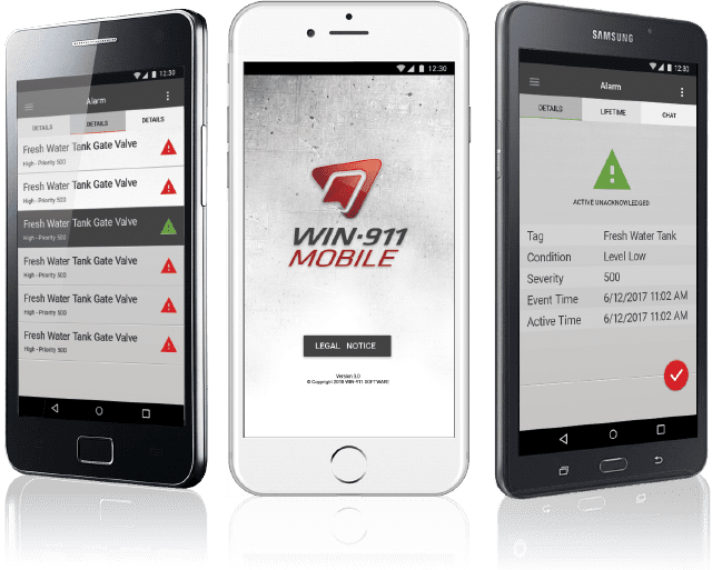 Mobile Win-911 Phones