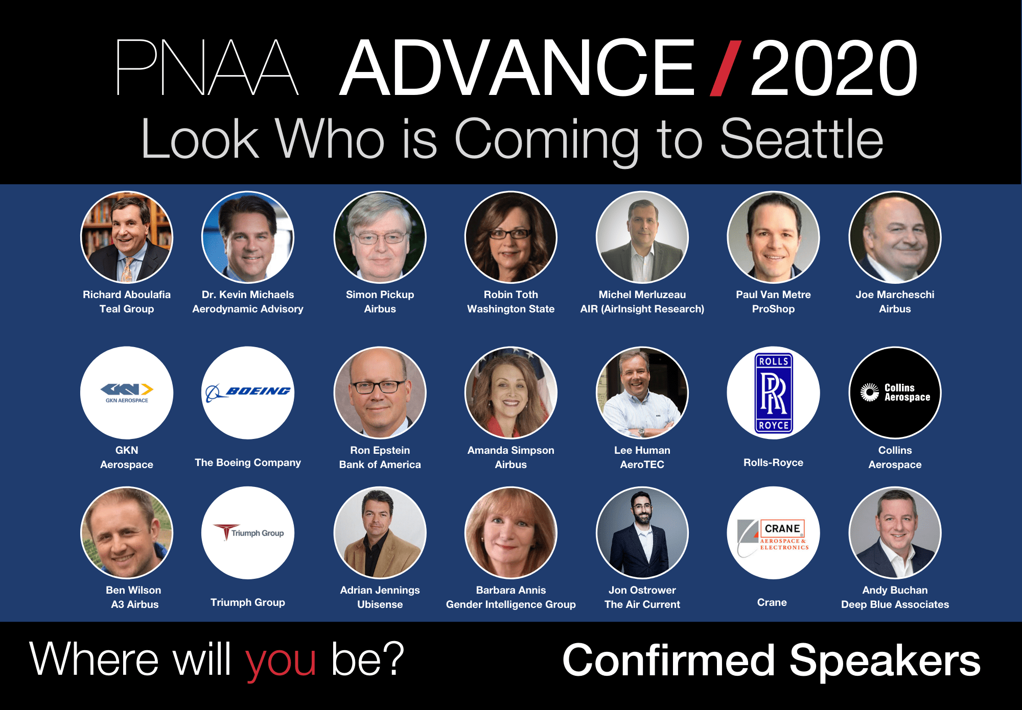 PNAA Annual Aerospace Conference 2020 Speakers
