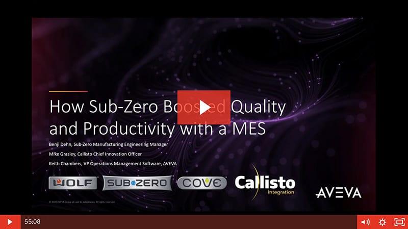 Sub-Zero MES Video