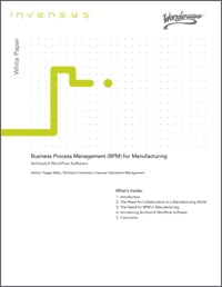 WhitePaper BPM for Manufacturing