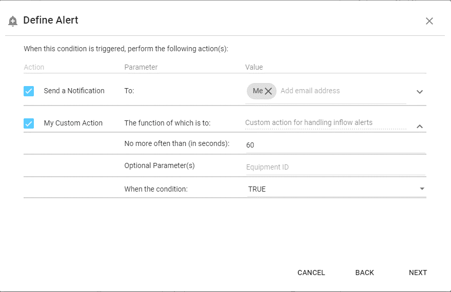 Insight Define Alert Custom